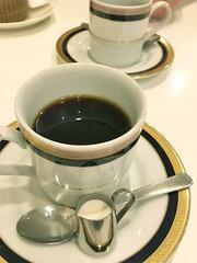 アザミのランチメニュー、コーヒー