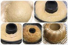 コーヒー入りの小麦酵母で、コーヒー風味のパン