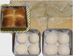 四角い型で、パン