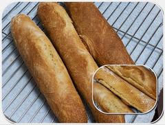 フランスパン天板で焼く練習