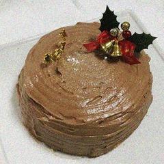 2018年のケーキ(ちょっと失敗)