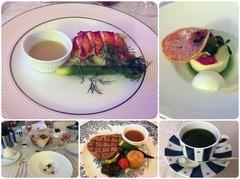 ホテルの夕食(ルームサービス)