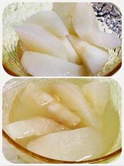 蜂蜜と生姜で梨を食べる
